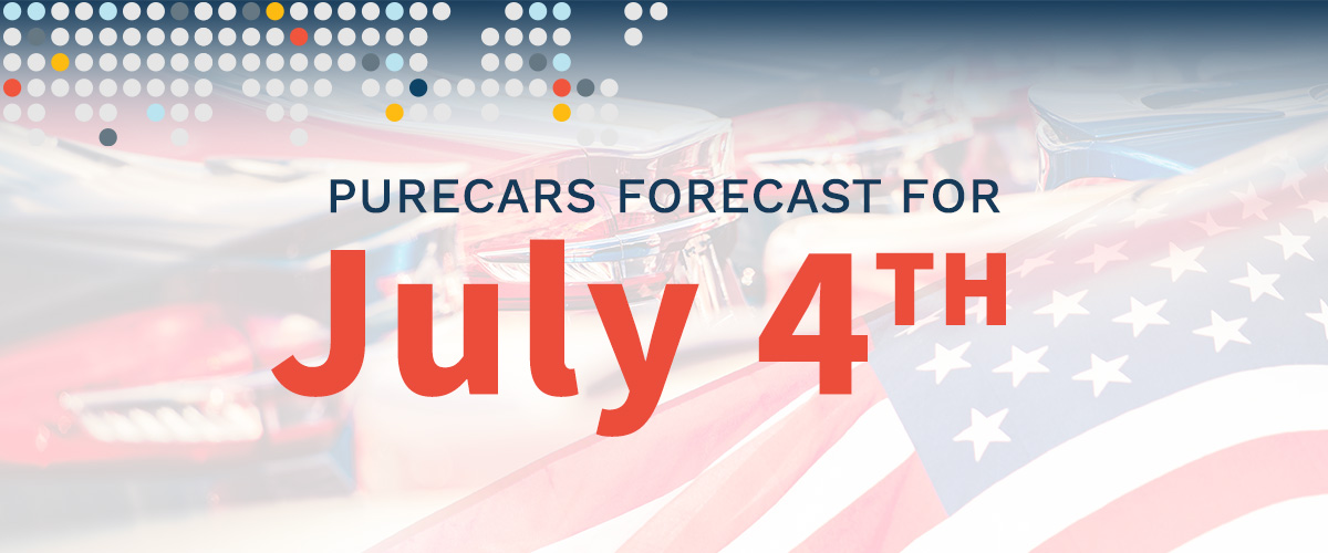 PureCars Forecast for July 4th.